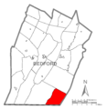 Map of Mann Township, Bedford County, Pennsylvania Highlighted.png