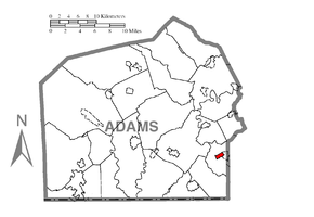 Map of McSherrystown, Adams County, Pennsylvania Highlighted.png