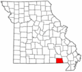 Map of Missouri highlighting Ripley County.png