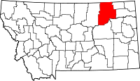 Map of Montana highlighting Valley County.svg