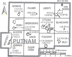 Map of Putnam County Ohio With Municipal and Township Labels.PNG