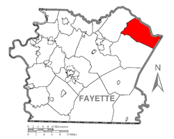 Location of Saltick Township in Fayette County