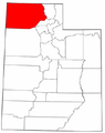 Map of Utah highlighting Box Elder County.png