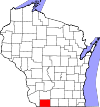 State map highlighting Lafayette County