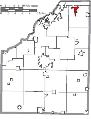 Walbridge, Ohio - Image: Map of Wood County Ohio Highlighting Walbridge Village
