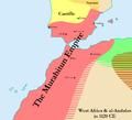 Map of the Murabitun (Almoravid) Empire in 1120.png