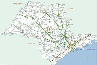 Highway system of São Paulo - Highway Map of the State of São Paulo.
