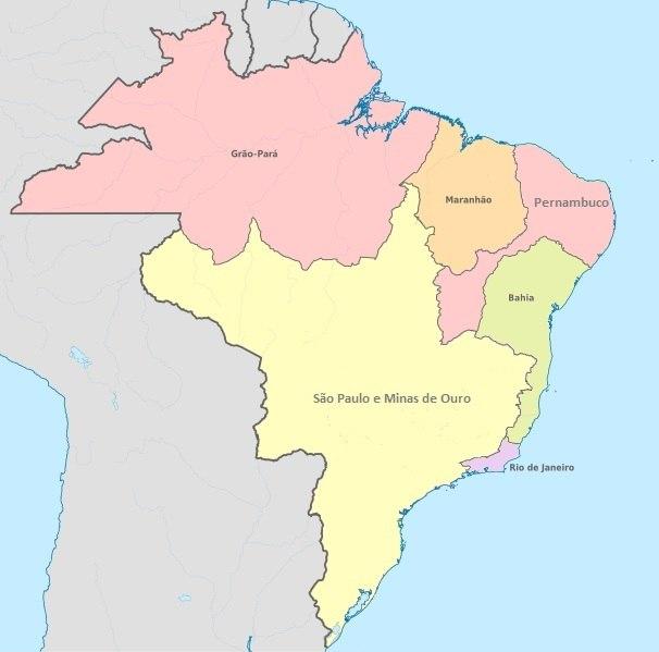 Mapa Brasil 1709