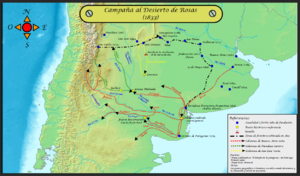 Desert Campaign (1833–34) - Map of Campaign Operations