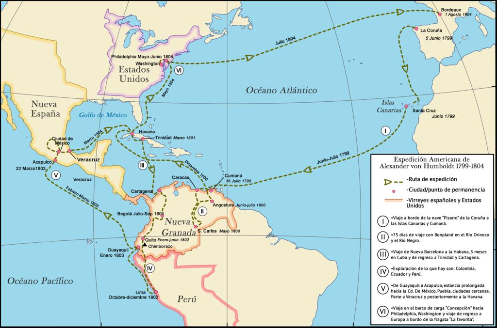 File mapa del viaje de alexander von humboldt en el for Cuarto viaje de cristobal colon