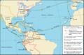 Mapa del viaje de Alexander Von Humboldt en el Continente Americano.png