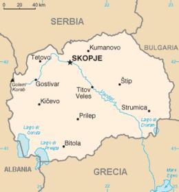 Macedonia del Nord - Mappa