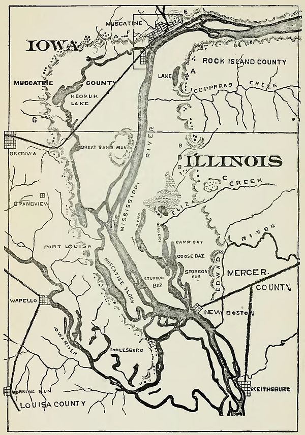 History Of Iowa From The Earliest Times To The Beginning Of The - Map of eastern iowa