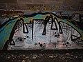 Marburg Lahntalradweg-Graffiti-Gallery mit E-Brücken-Underground-Graffiti Nr.10 mit Schlammvordergrund, 2019-03-22.jpg
