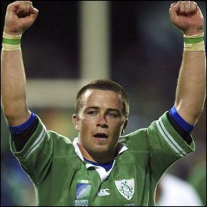 Marcus Horan - Horan celebrating after an Irish victory at the 2003 Rugby World Cup.