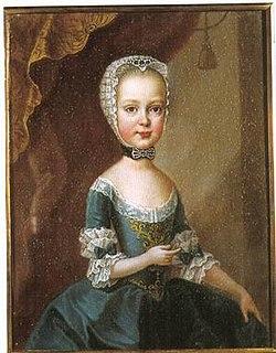 Archduchess Maria Theresa of Austria (1762–1770) daughter of emperor Joseph II (1762-1770)