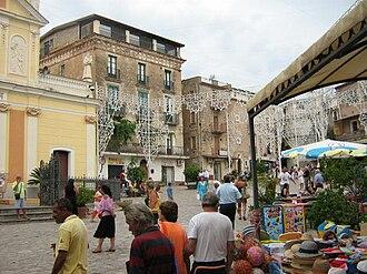 """Marina di Camerota - """"Piazza San Domenico"""", main town square"""
