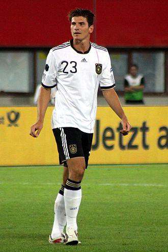 Mario Gómez - Gómez playing for Germany in 2011