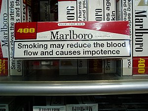 Marlboro warning impotence