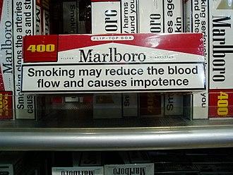 Cigarette pack - Box of 400 Marlboro cigarettes.
