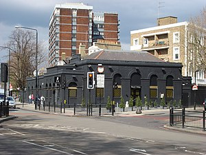 Marlborough Road tube station - The station building in 2008