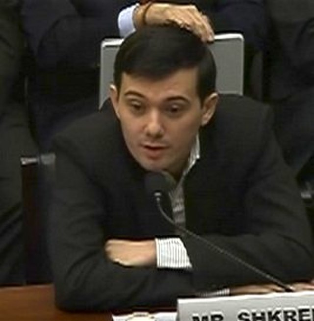 From commons.wikimedia.org: Martin Shkreli House Committee on Oversight and Government Reform 2016 {MID-65109}