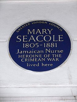 Photo of Mary Seacole blue plaque