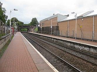 Maryhill railway station - Maryhill station, looking east