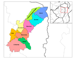 Mashonaland East districts.png