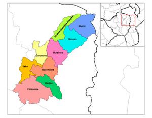 Mashonaland East Province - Districts of Mashonaland East