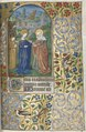 Master of the Geneva Latini - Book of Hours (Use of Rouen)- fol. 39r, The Visitation - 1952.227.39.a - Cleveland Museum of Art (cropped).tif