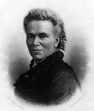 Matilda Joslyn Gage - Engraving of Gage by John Chester Buttre after photo by Napoleon Sarony