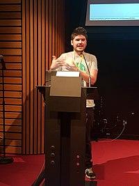 Maxime Lathuilière at WikiCite 2018.jpg
