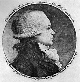 Maximilien Robespierre Physionotrace engraving by Fouquet and Chrétien 1792