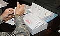 Medical professionals learn how to use the Sexual Assault Evidence Collection kit at Camp Phoenix near Kabul, Afghanistan, Aug. 15, 2010 100815-A-GY802-017.jpg