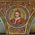 Mehrerau Collegiumskapelle Papst 07 Benedikt XIV a.jpg