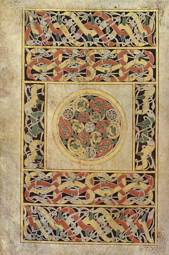 Book of Durrow - Carpet page with interlaced animals