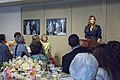 """Melania Trump attends """"The First Lady Luncheon"""" hosted by Senate spouses, April 2017.jpg"""