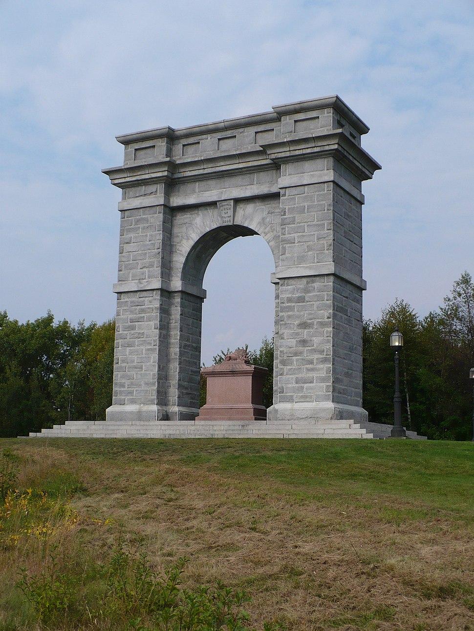Memorial Arch of Tilton 1882