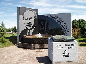 Louis Robichaud - Memorial to Louis J. Robichaud in his birthplace, Saint-Antoine, New Brunswick