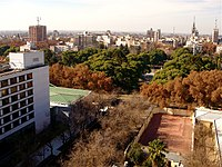 View of the Mendoza City in autumn