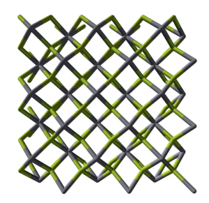 Mercury(II) fluoride - Image: Mercury(II) fluoride xtal 3D sticks