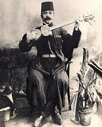 Tar (Azerbaijani instrument) - Image: Meshadi Jamil Amirov