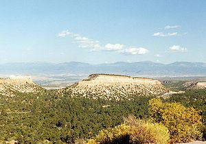 Pajarito Plateau - An isolated mesa of the Pajarito Plateau