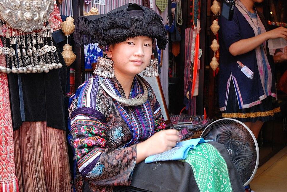 Miao woman in Yangshuo (China)