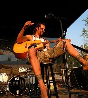 Michael Franti - Michael Franti at the Bonnaroo Festival, 2007 – Photo: Raj Gupta