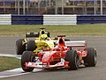 Michael Schumacher and Ralph Firman 2003 Silverstone.jpg