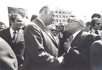 Poniatowski - Image: Michel Poniatowski In Tunisia mars 1976