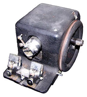 Microtome - A rotary microtome of older construction