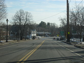 Middleton, Massachusetts - Looking south along N/S Main St (114/62) in Middleton